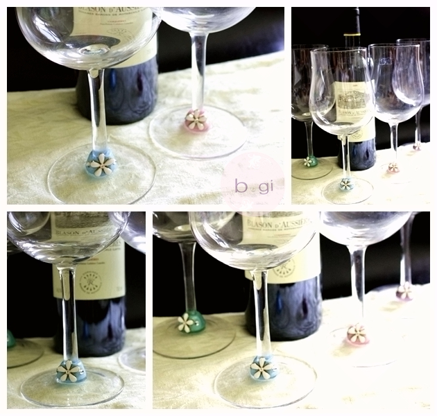 wineglass pastel collage